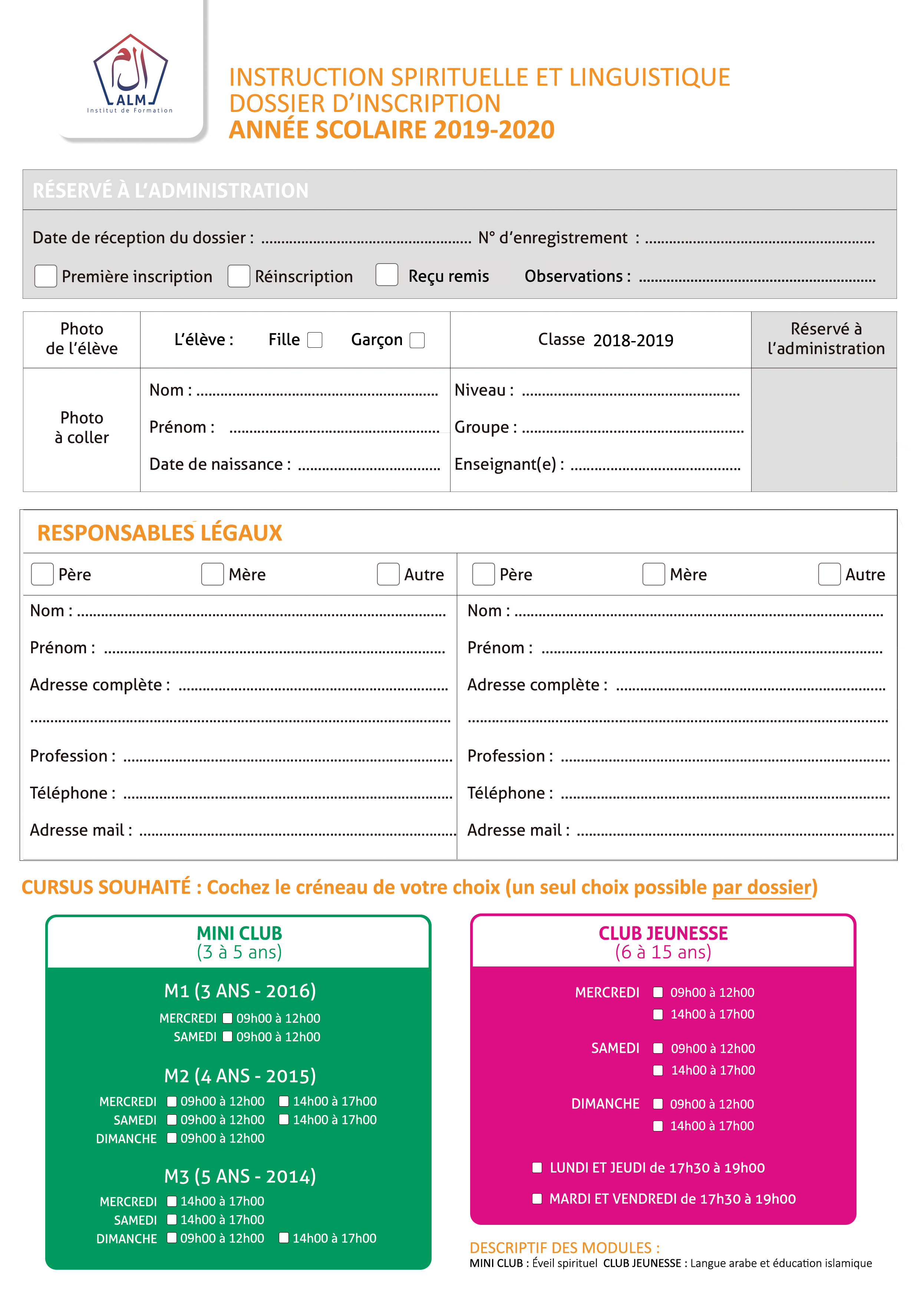 Dossier téléchargeable mini club club jeunesse